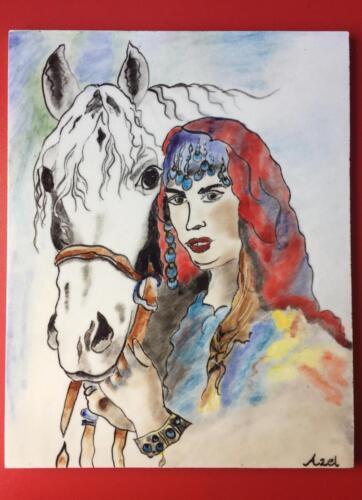 Pano-At ve Kadın